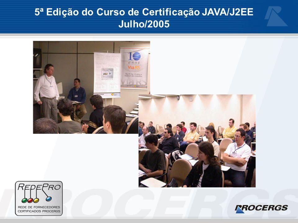 5ª Edição do Curso de Certificação JAVA/J2EE Julho/2005
