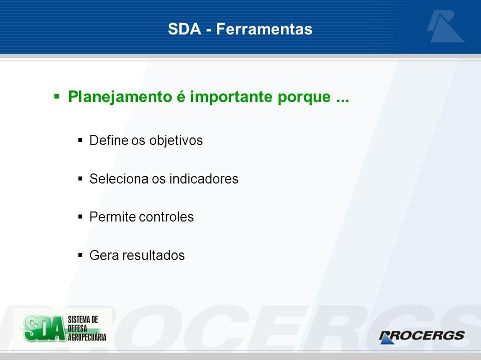 SDA - Ferramentas Planejamento é importante porque...