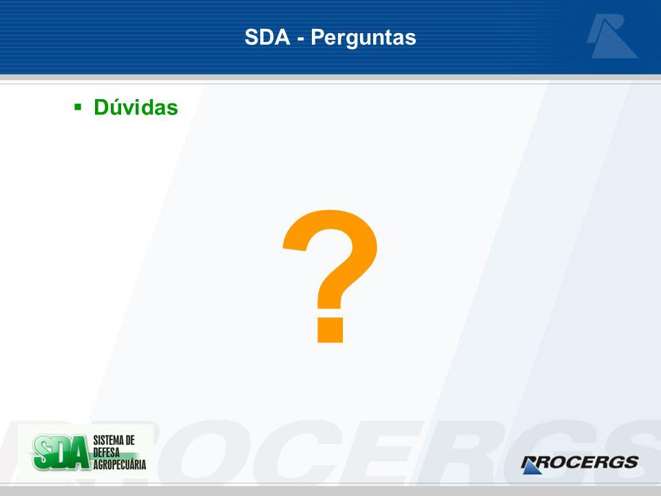 SDA - Perguntas Dúvidas