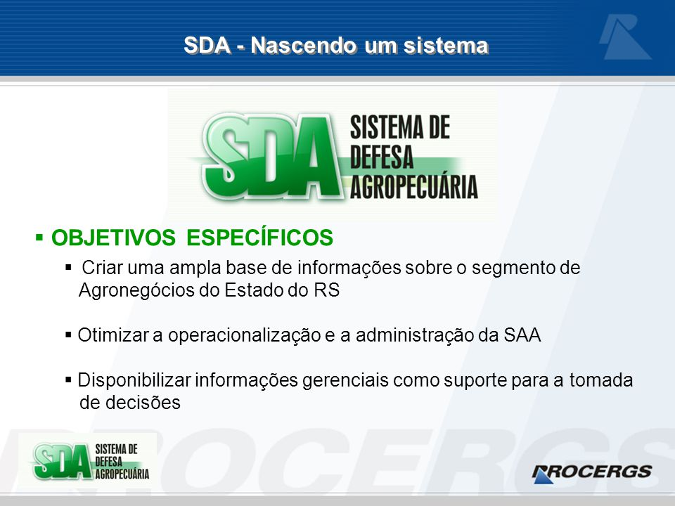 SDA - Abrangência