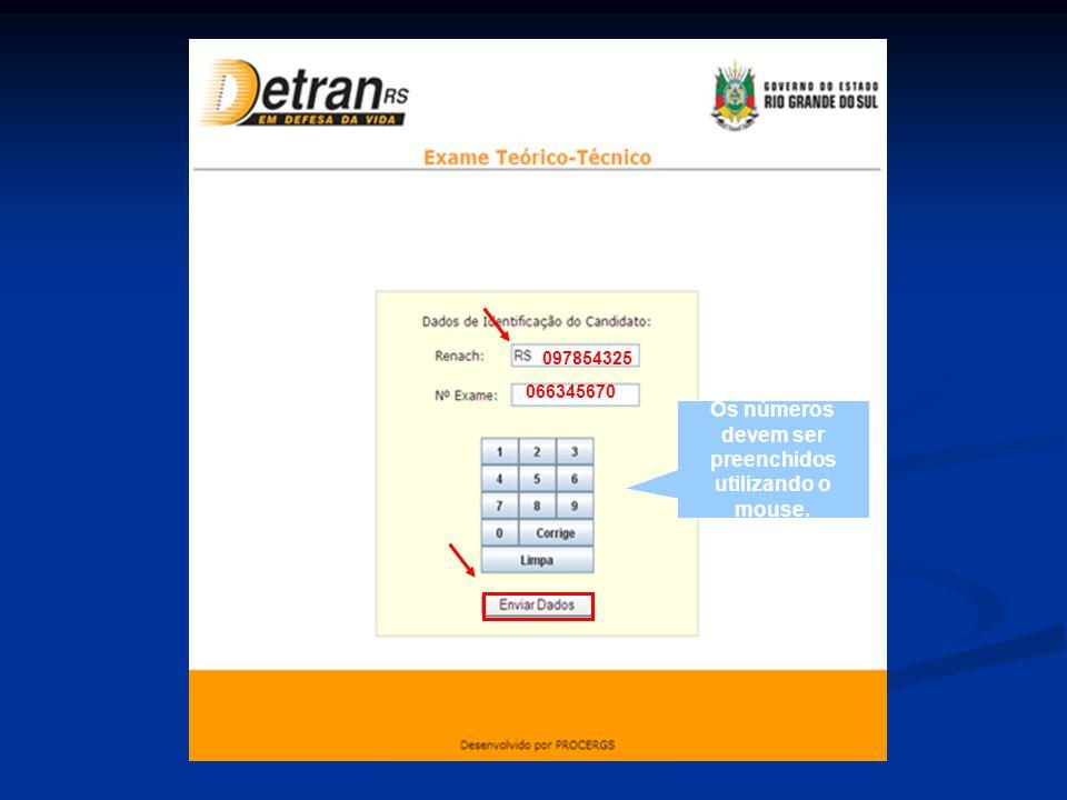 Após Enviar Dados, aparecerá a tela de instruções gerais ao candidato.
