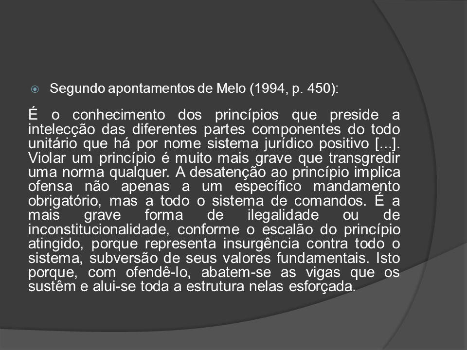 Segundo apontamentos de Melo (1994, p. 450): É o conhecimento dos princípios que preside a intelecção das diferentes partes componentes do todo unitár