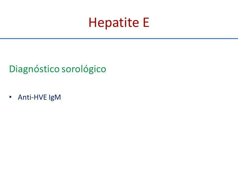 Eventos clínicos e sorológicos da hepatite E aguda