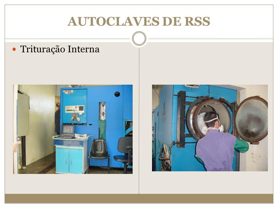 AUTOCLAVES DE RSS Trituração Interna