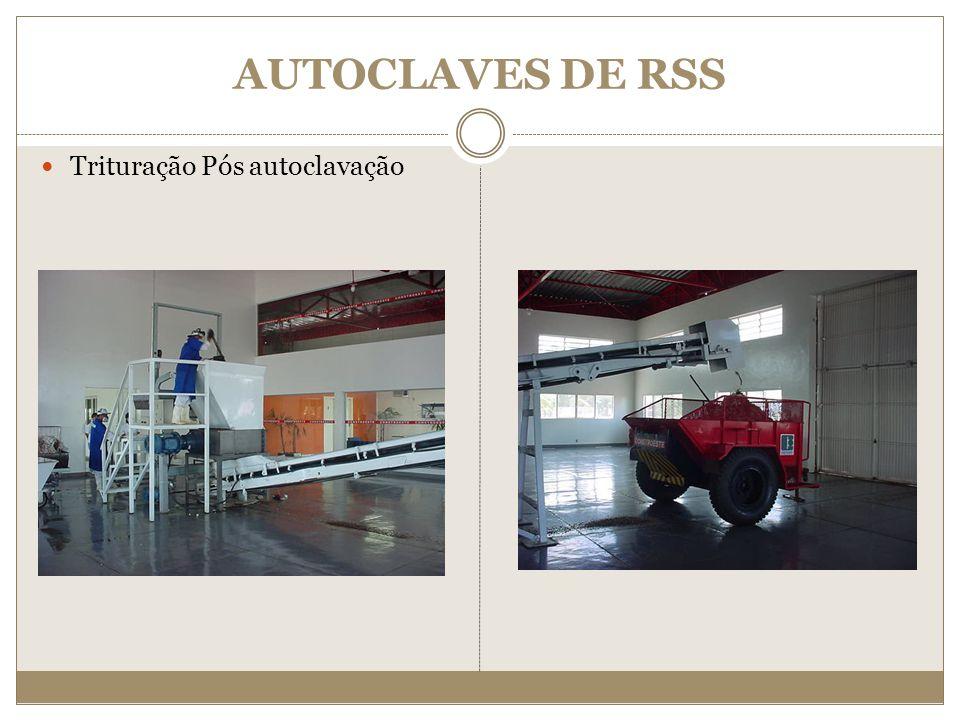 AUTOCLAVES DE RSS Trituração Pós autoclavação