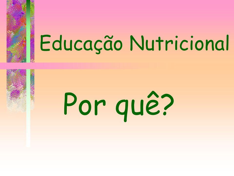 Educação Nutricional Por quê?