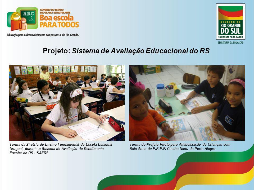 Projeto: Sistema de Avaliação Educacional do RS Turma da 2ª série do Ensino Fundamental da Escola Estadual Uruguai, durante o Sistema de Avaliação do