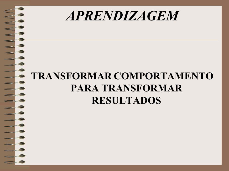 APRENDIZAGEM TRANSFORMAR COMPORTAMENTO PARA TRANSFORMAR RESULTADOS