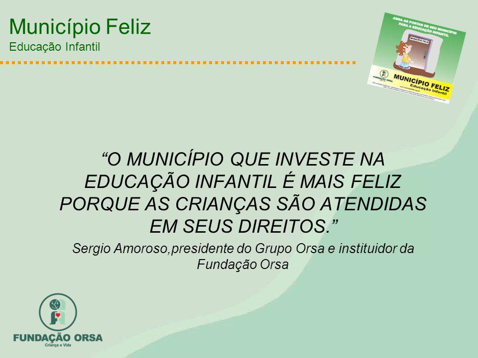 Município Feliz Educação Infantil O MUNICÍPIO QUE INVESTE NA EDUCAÇÃO INFANTIL É MAIS FELIZ PORQUE AS CRIANÇAS SÃO ATENDIDAS EM SEUS DIREITOS.