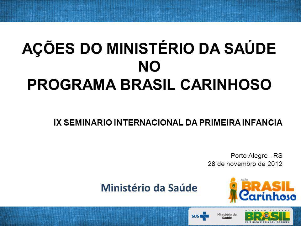 Prevalência (%) de anemia em crianças 6 - 59meses, segundo Regiões Brasileiras.