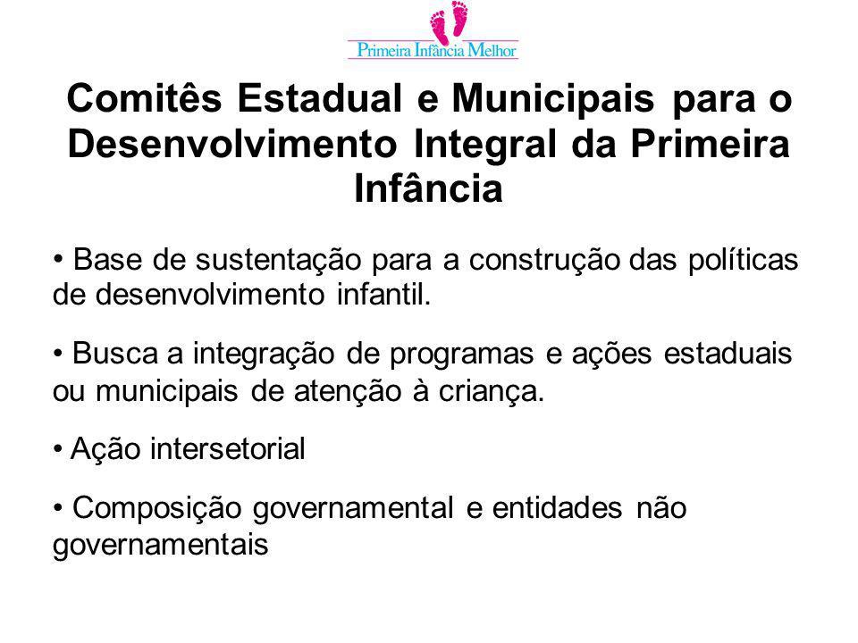 Base de sustentação para a construção das políticas de desenvolvimento infantil.
