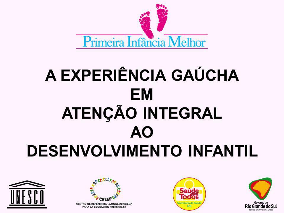 A EXPERIÊNCIA GAÚCHA EM ATENÇÃO INTEGRAL AO DESENVOLVIMENTO INFANTIL