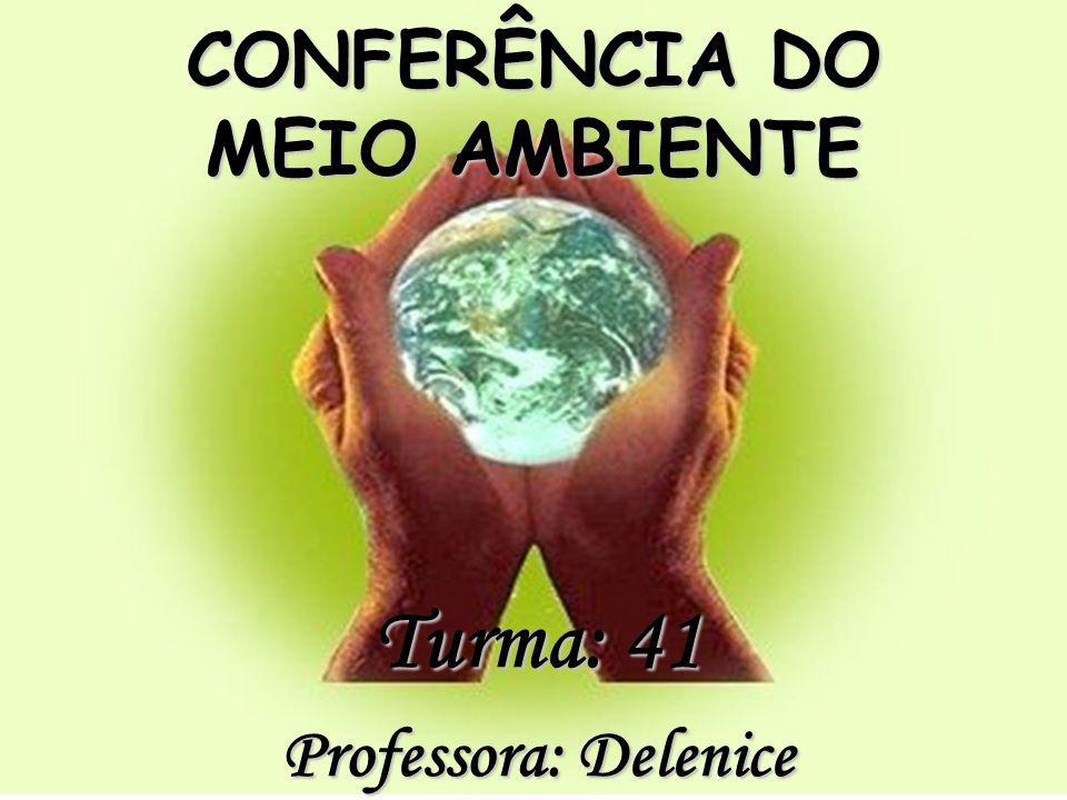 CONFERÊNCIA DO MEIO AMBIENTE Turma: 41 Professora: Delenice