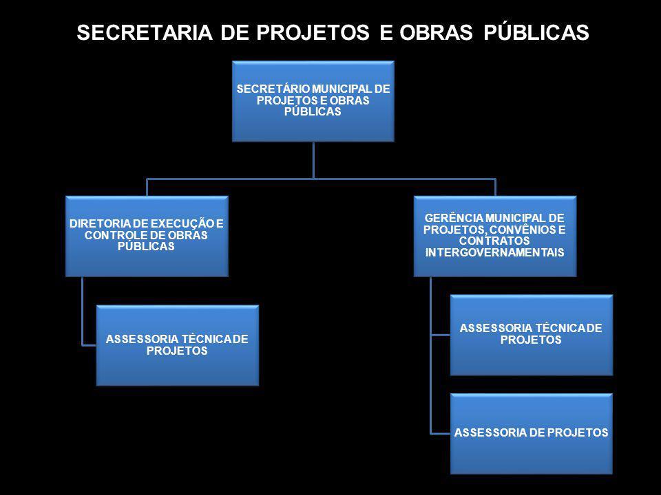 SECRETARIA DE PROJETOS E OBRAS PÚBLICAS SECRETÁRIO MUNICIPAL DE PROJETOS E OBRAS PÚBLICAS DIRETORIA DE EXECUÇÃO E CONTROLE DE OBRAS PÚBLICAS ASSESSORI
