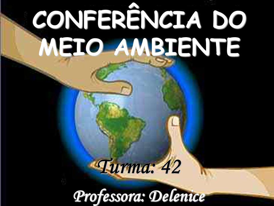 Turma: 42 Professora: Delenice CONFERÊNCIA DO MEIO AMBIENTE