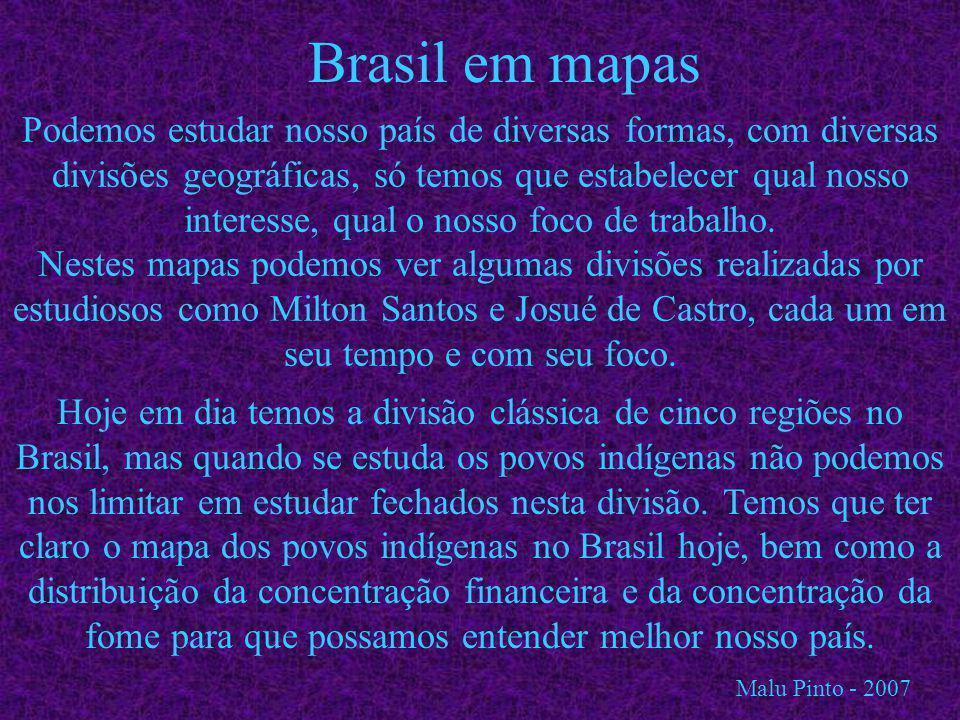 Brasil em mapas Podemos estudar nosso país de diversas formas, com diversas divisões geográficas, só temos que estabelecer qual nosso interesse, qual