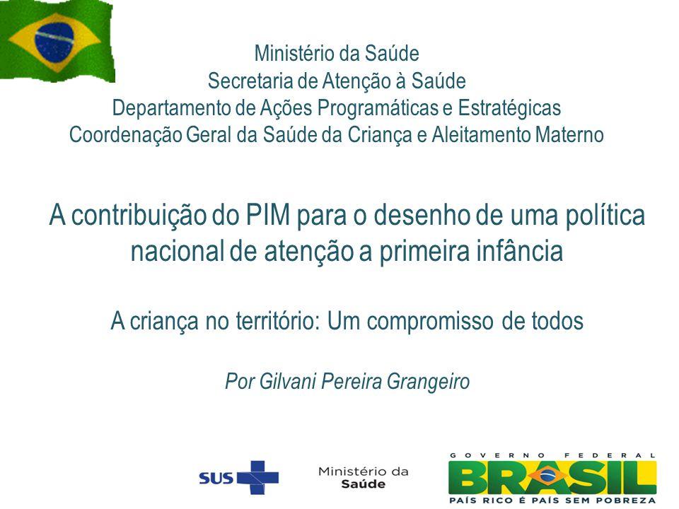 Ministério da Saúde Secretaria de Atenção à Saúde Departamento de Ações Programáticas e Estratégicas Coordenação Geral da Saúde da Criança e Aleitamen