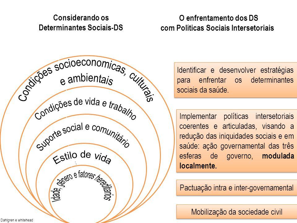 Idade sexo fatores hereditários Idade sexo fatores hereditários Considerando os Determinantes Sociais-DS Dahlgren e whitehead O enfrentamento dos DS c