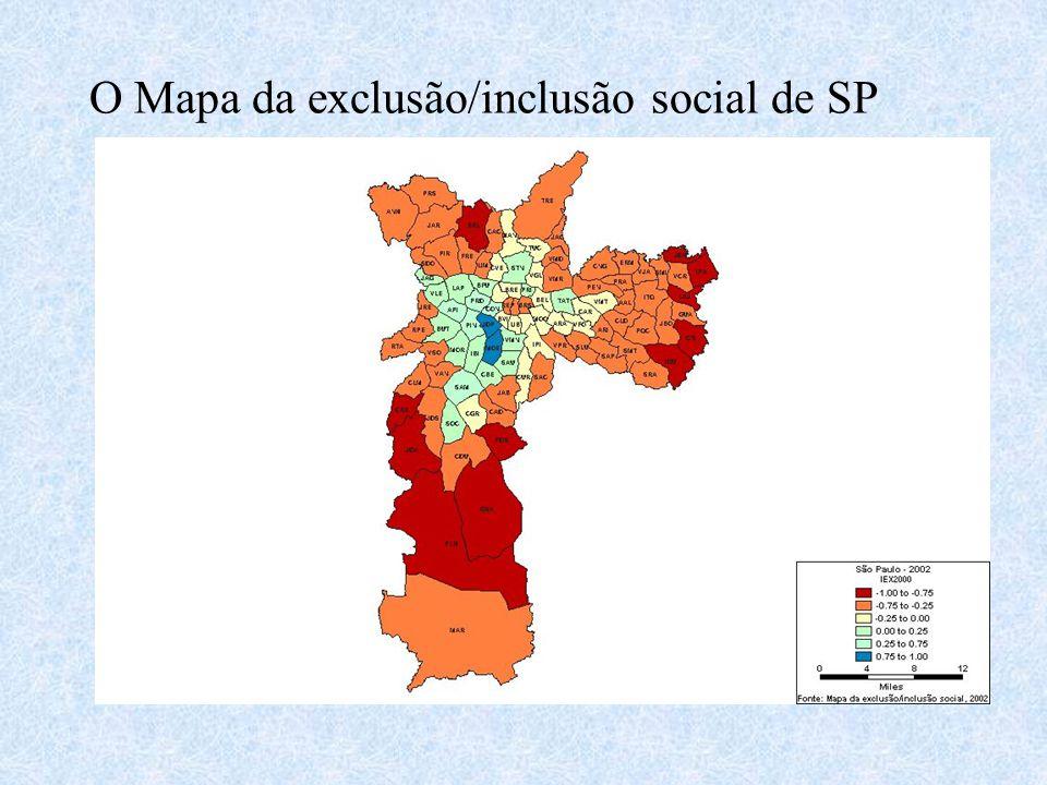 O Mapa da exclusão/inclusão social de SP