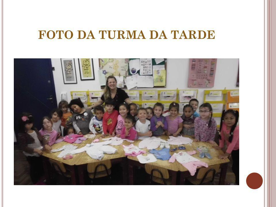 FOTO DA TURMA DA TARDE