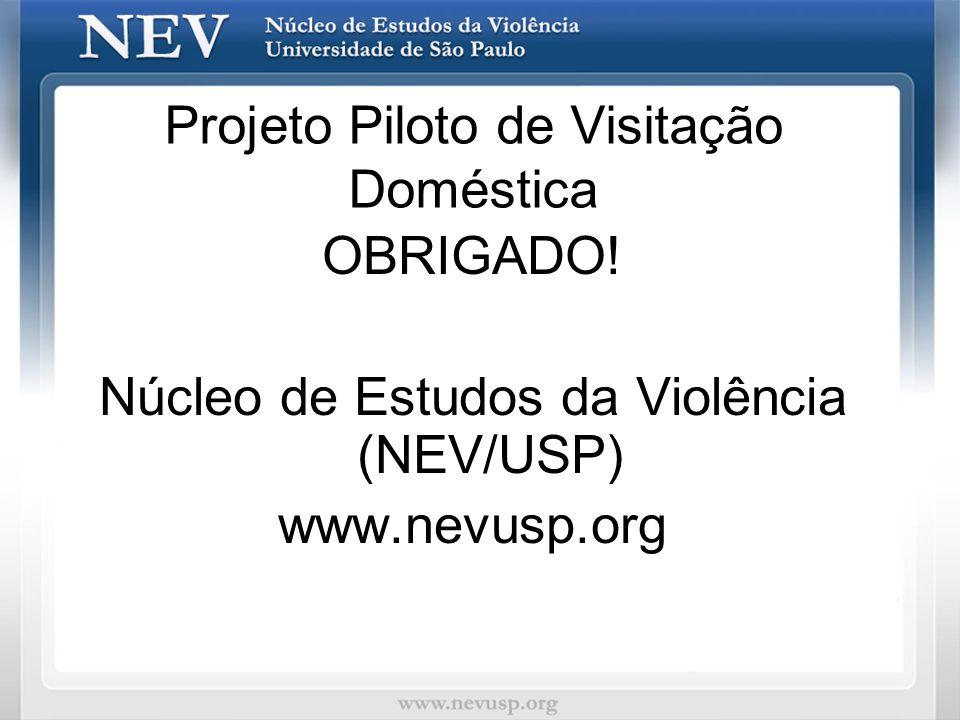 Projeto Piloto de Visitação Doméstica OBRIGADO! Núcleo de Estudos da Violência (NEV/USP) www.nevusp.org