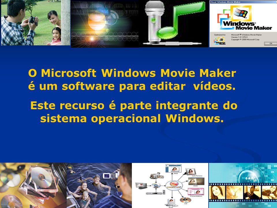 O Microsoft Windows Movie Maker é um software para editar vídeos. Este recurso é parte integrante do sistema operacional Windows.