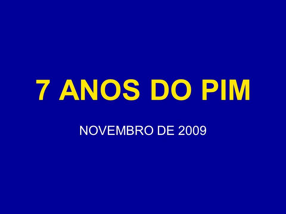 7 ANOS DO PIM NOVEMBRO DE 2009
