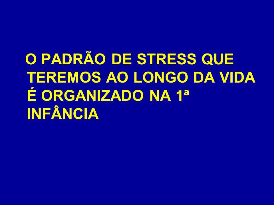 O PADRÃO DE STRESS QUE TEREMOS AO LONGO DA VIDA É ORGANIZADO NA 1ª INFÂNCIA