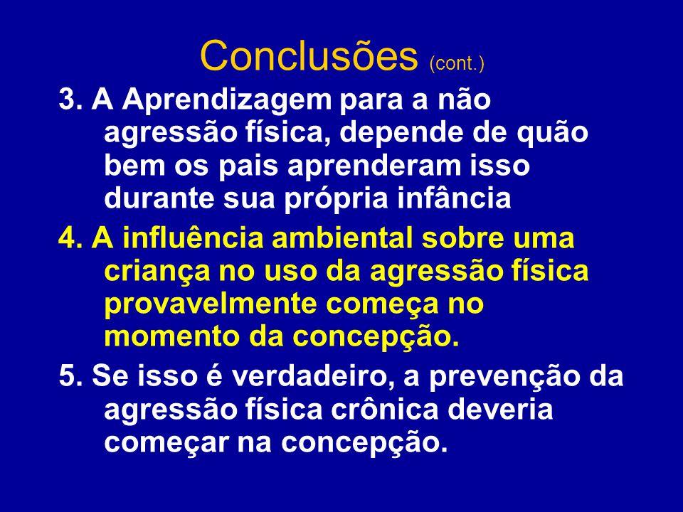 Conclusões (cont.) 3.