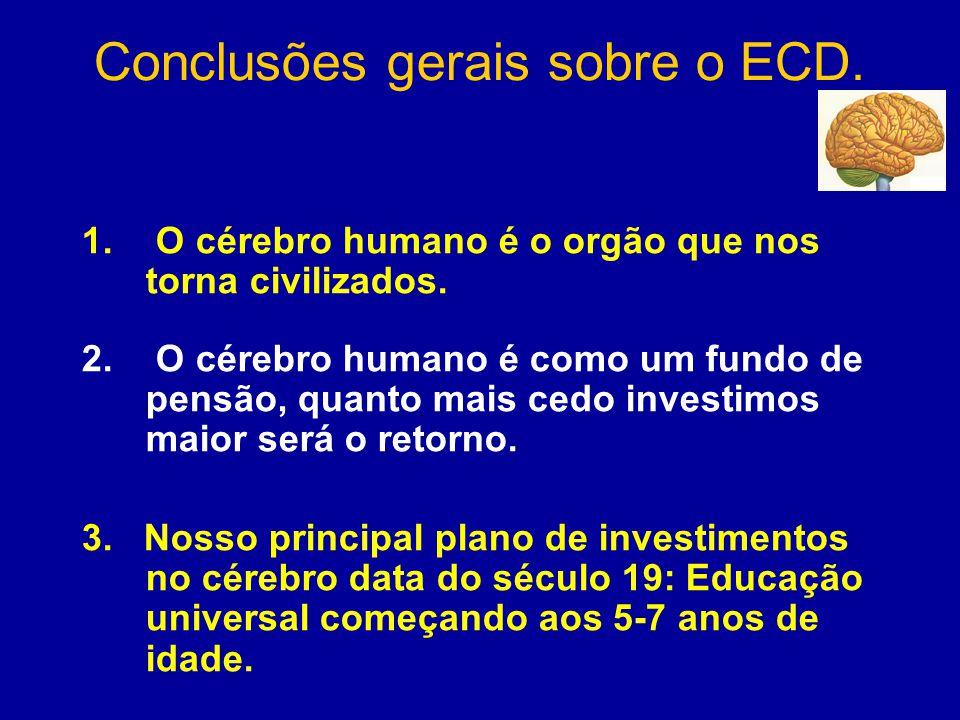 Conclusões gerais sobre o ECD. 1. O cérebro humano é o orgão que nos torna civilizados.
