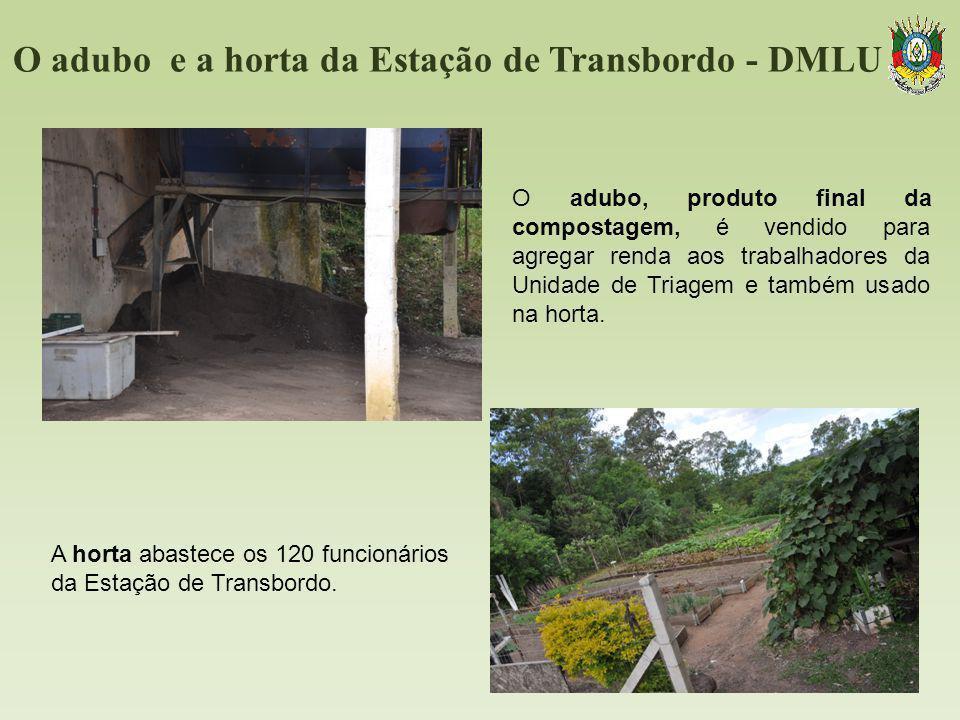 O adubo e a horta da Estação de Transbordo - DMLU O adubo, produto final da compostagem, é vendido para agregar renda aos trabalhadores da Unidade de