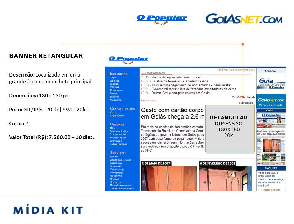 Descrição: Formato de alta visibilidade, posicionado no topo do menu de navegação do site.