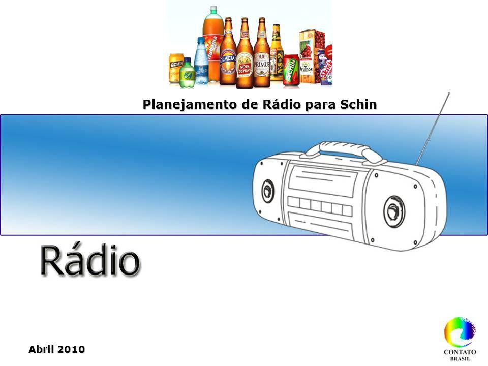 Abril 2010 Planejamento de Rádio para Schin