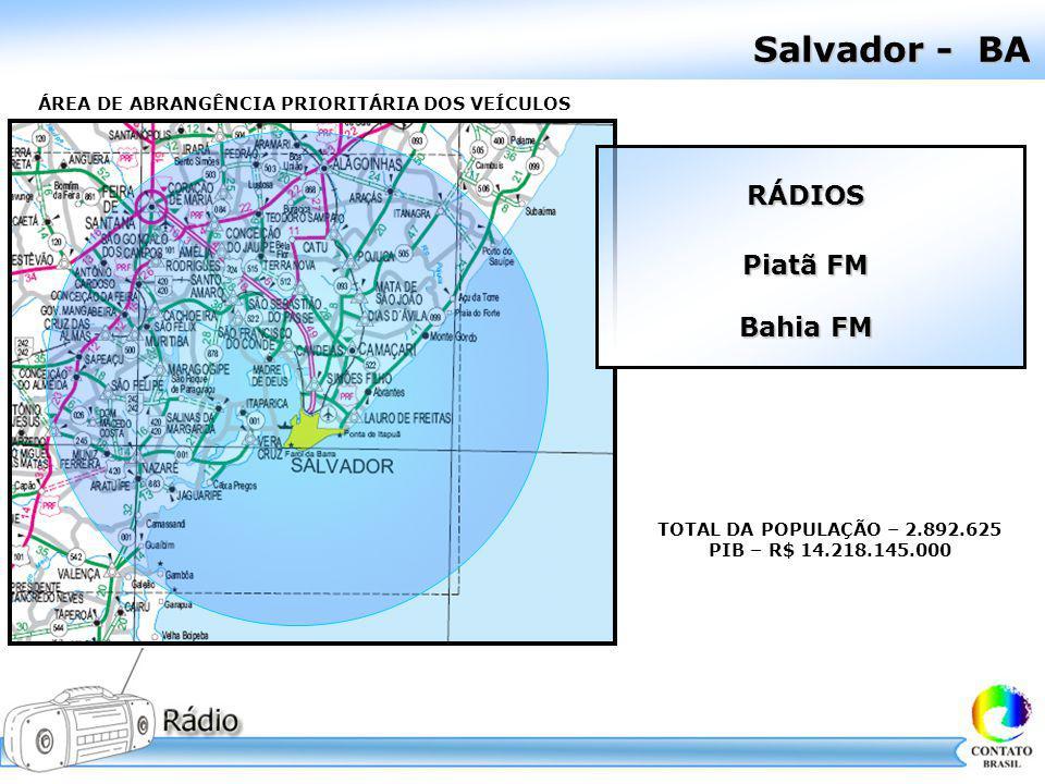 Pesquisa IbopeEasy Media Piatã FM – Salvador/BA
