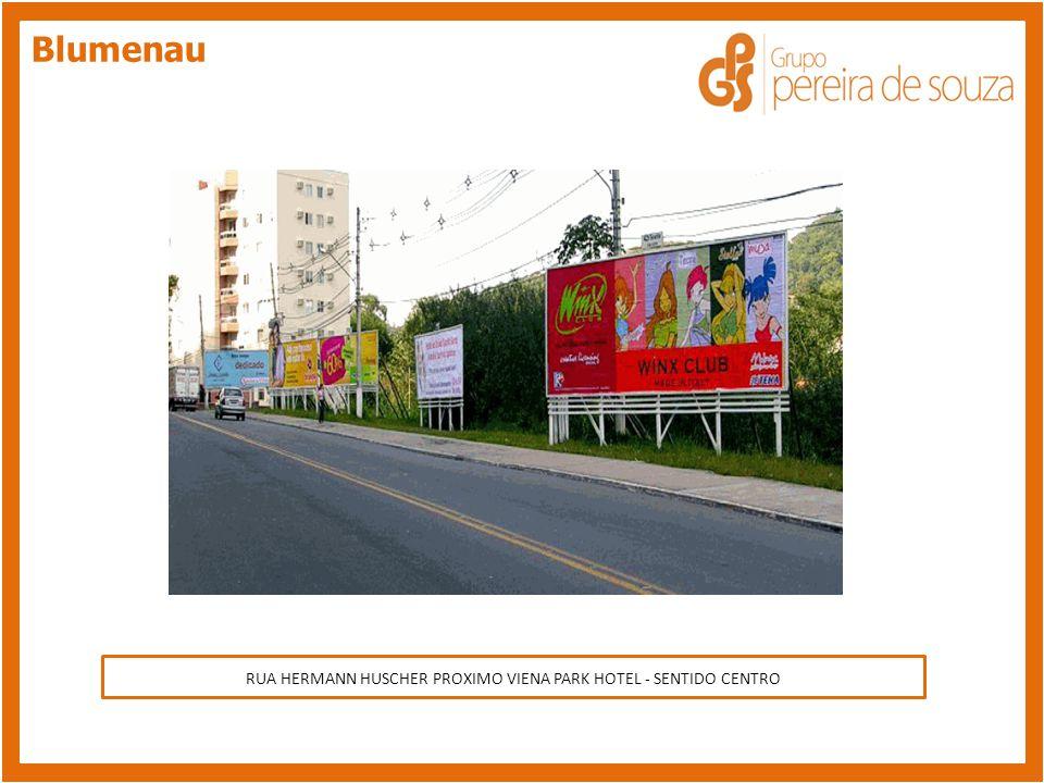 RUA BAHIA = LADO DO PUDIM MEDEIROS - SENTIDO CENTRO Blumenau RUA HERMANN HUSCHER PROXIMO VIENA PARK HOTEL - SENTIDO CENTRO