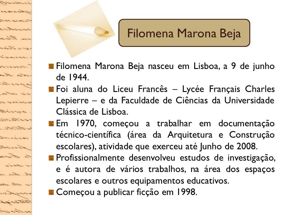 Filomena Marona Beja nasceu em Lisboa, a 9 de junho de 1944. Foi aluna do Liceu Francês – Lycée Français Charles Lepierre – e da Faculdade de Ciências