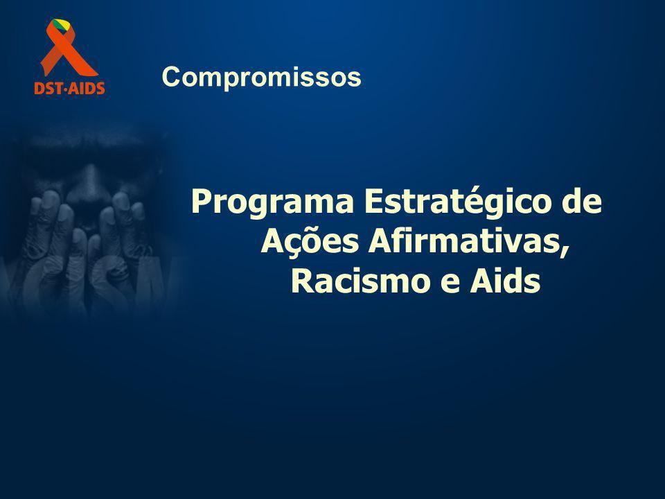 Compromissos Programa Estratégico de Ações Afirmativas, Racismo e Aids