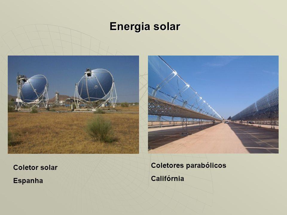 Energia solar Coletor solar Espanha Coletores parabólicos Califórnia