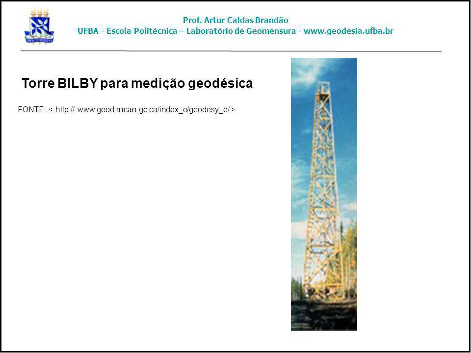 Torre BILBY para medição geodésica FONTE: Prof. Artur Caldas Brandão UFBA - Escola Politécnica – Laboratório de Geomensura - www.geodesia.ufba.br