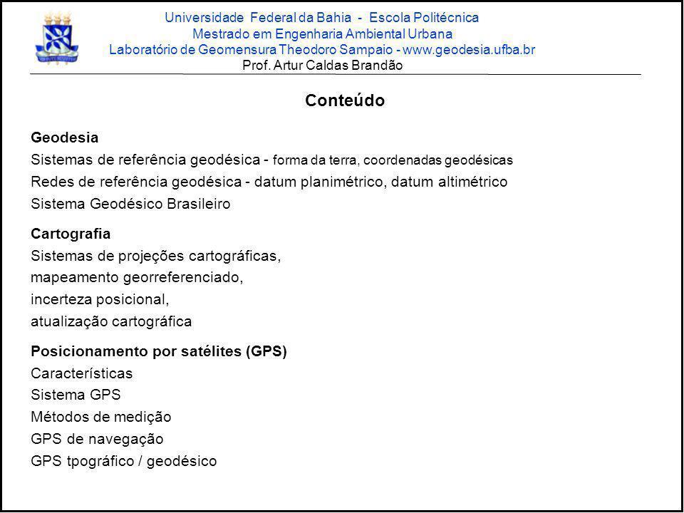 SALV 11ª Estação da Rede Brasileira de Monitoramento Contínuo - RBMC (Parceria CONDER/IBGE) Prof.