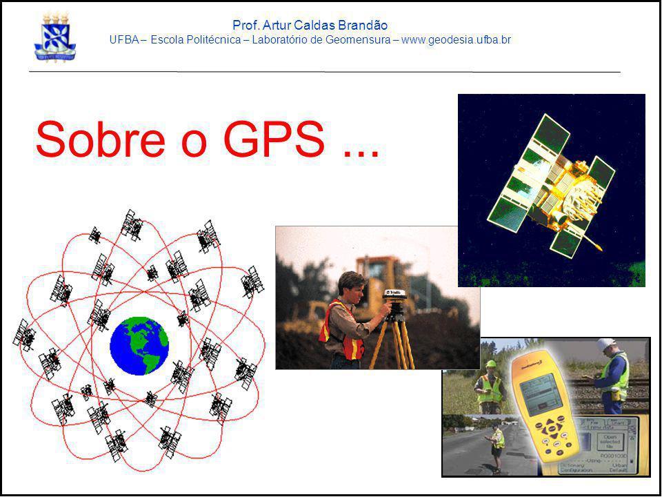 Sobre o GPS... Prof. Artur Caldas Brandão UFBA – Escola Politécnica – Laboratório de Geomensura – www.geodesia.ufba.br