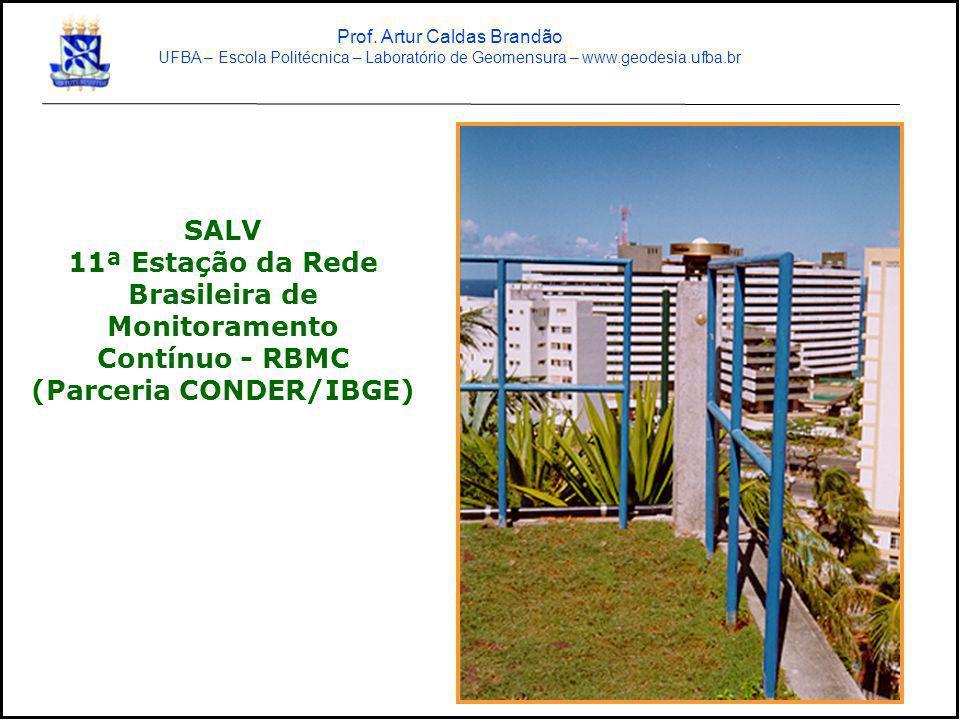 SALV 11ª Estação da Rede Brasileira de Monitoramento Contínuo - RBMC (Parceria CONDER/IBGE) Prof. Artur Caldas Brandão UFBA – Escola Politécnica – Lab