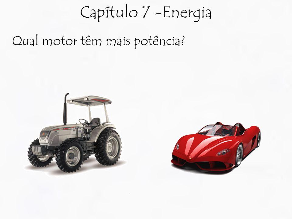 Capítulo 7 -Energia Qual motor têm mais potência?