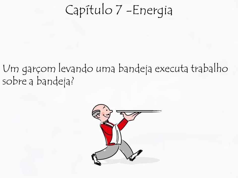 Capítulo 7 -Energia Um garçom levando uma bandeja executa trabalho sobre a bandeja?