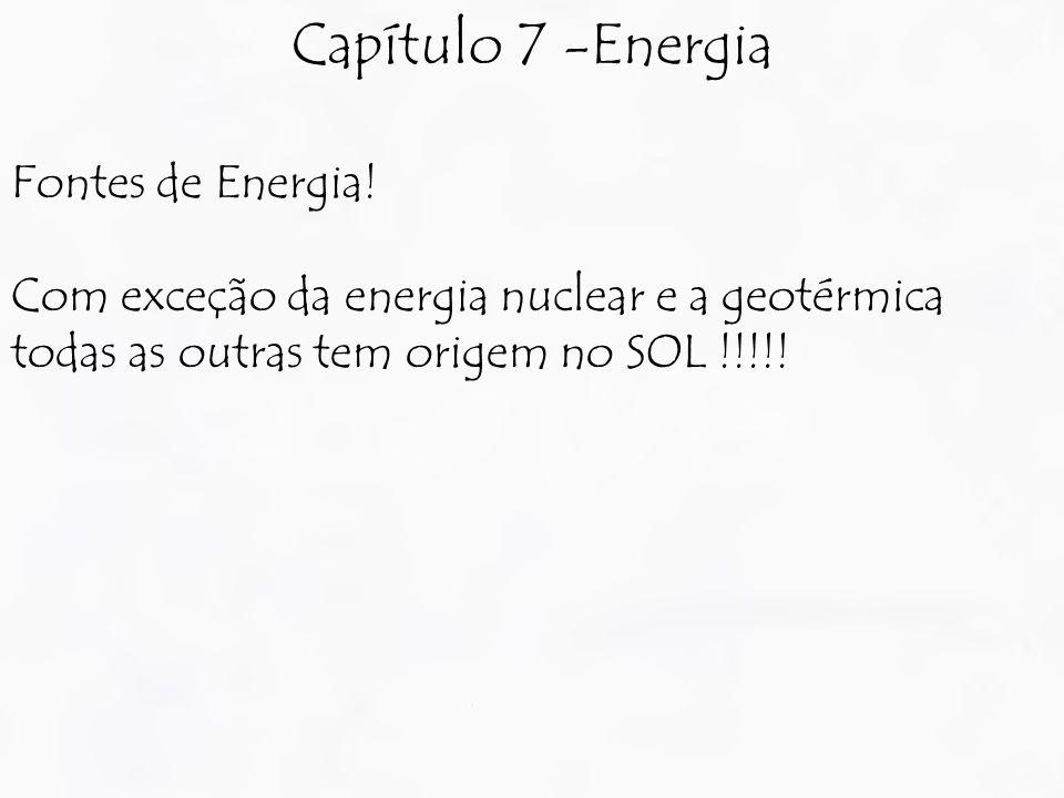 Capítulo 7 -Energia Fontes de Energia.