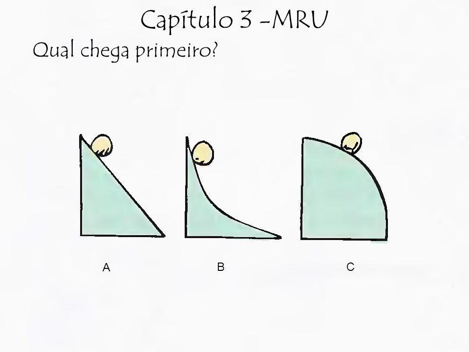 Capítulo 3 -MRU Qual chega primeiro? A BC