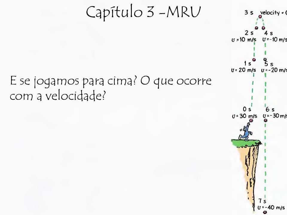 Capítulo 3 -MRU E se jogamos para cima? O que ocorre com a velocidade?
