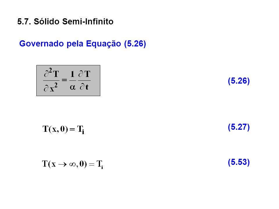 5.7. Sólido Semi-Infinito Governado pela Equação (5.26) (5.26) (5.27) (5.53)