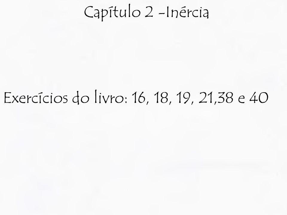 Capítulo 2 -Inércia Exercícios do livro: 16, 18, 19, 21,38 e 40