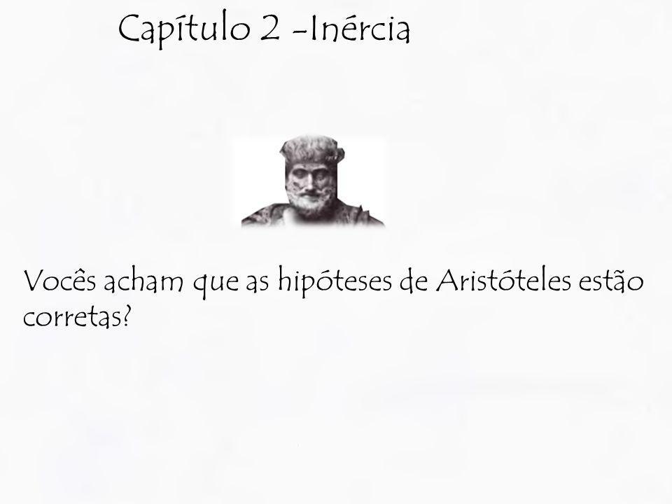 Capítulo 2 -Inércia Vocês acham que as hipóteses de Aristóteles estão corretas?